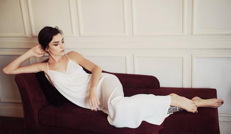 94fe4cf1225 Sexyback  Backless silk slip dress  Open back silk sleepwear