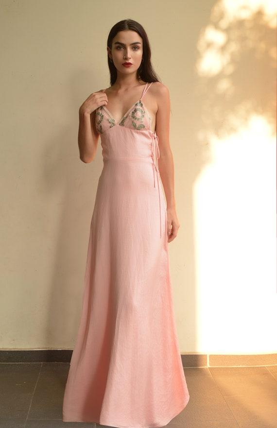 Silk Maxi Dress for Wedding
