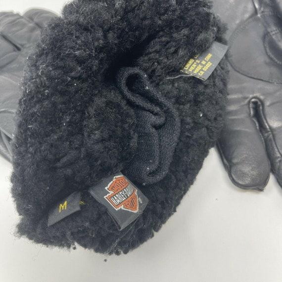 Vintage Harley DavidsonLeather Gauntlet Gloves S… - image 6