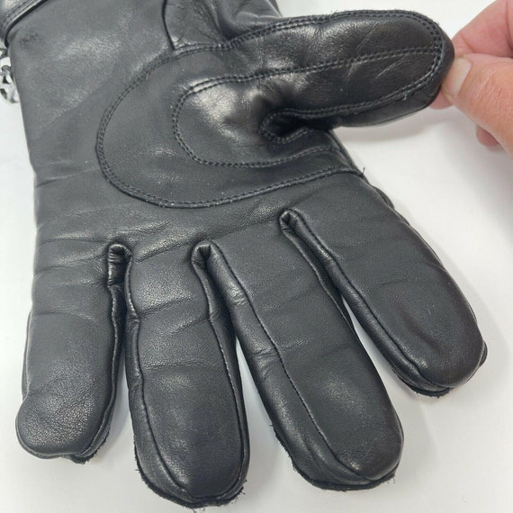 Vintage Harley DavidsonLeather Gauntlet Gloves S… - image 5