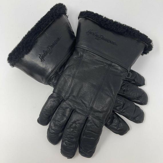 Vintage Harley DavidsonLeather Gauntlet Gloves S… - image 1