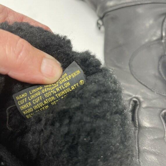 Vintage Harley DavidsonLeather Gauntlet Gloves S… - image 8