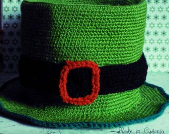 st patrick's day Hat leprechaun crochet ADULT Size