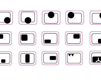 Multi purpose 2-3-4-5-6-7-8 or 9 ring cooker top sticker markings decals