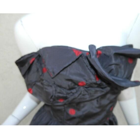 Rare CEIL CHAPMAN Dress Gown Blue Red Cherries Vi… - image 3