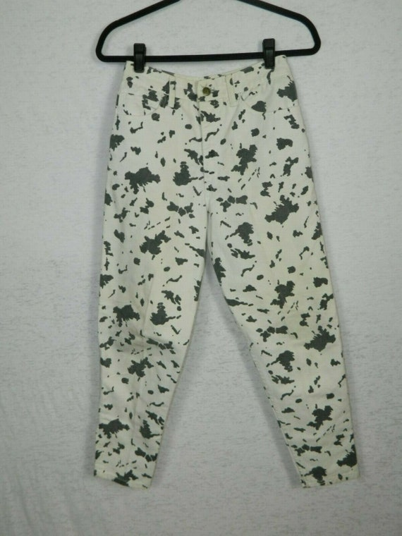 Vintage Guess Jeans Black And White Cow Print High
