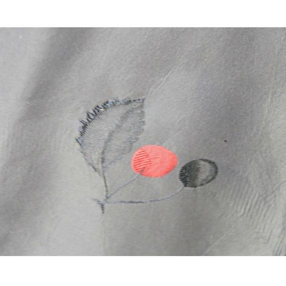 Rare CEIL CHAPMAN Dress Gown Blue Red Cherries Vi… - image 6