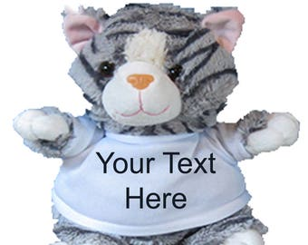 Personalised Cuddly Soft Cat Toy Comes With Its Own T Shirt