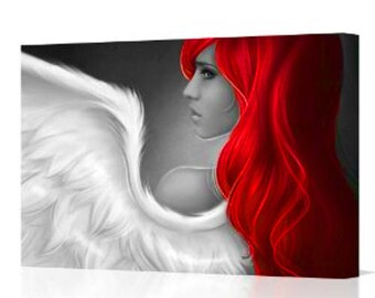 Fantasy Red Haired Angel Canvas Print
