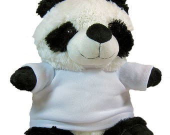 Personalised Cuddly Soft Panda Bear Toy Comes With Its Own T Shirt