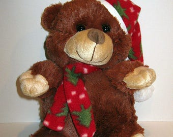 Personalised Cuddly Soft Christmas Berry Bear Toy Comes With Its Own T Shirt Hat and Scarf