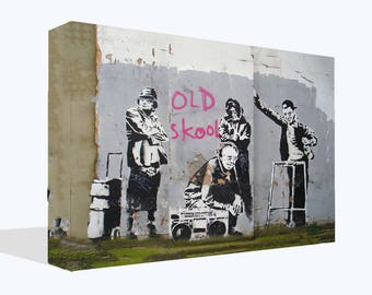 Iconic Banksy Old Skool Grannies on Canvas Pictures Wall Art Prints Home Decoration Framed Posters Photos Graffiti Mural