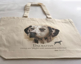 Dalmation Dog  100% Cotton Tote  Shopper Bag For Life
