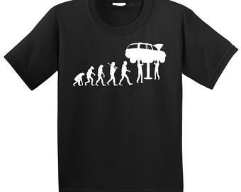 Men's Mechanic Evolution Graphic Black Cotton T Shirt