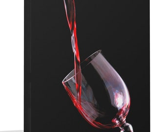 Modern Contemporary Canvas Print Wall Art Premium Red Wine In Glass Picture Canvas Art Print  Ready To Hang Or Poster Print