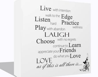 Love Quote Words Inspiration Canvas Wall Art High Quality Print Framed Ready To Hang