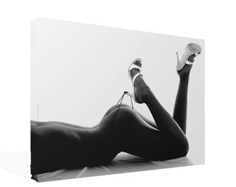 Black and White Erotic Nude Bum and Heels  Ready to Hang Or Poster Print Different Sizes Available