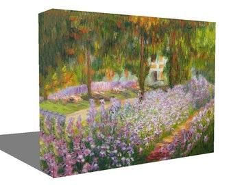Claude Monet Reproduction Garden Canvas Art  Ready To Hang Or Poster Print