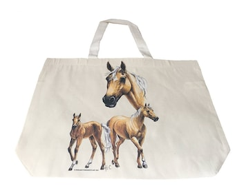Palomino Horse  Printed Bag  100% Cotton Tote  Shopper Bag For Life