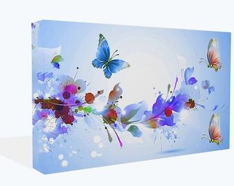 Fantasy Butterflies Colour Splashes Canvas Print Or Poster Print