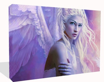 Fantasy Beautiful Angel (Pink) Print Wall Art Ready To Hang Or Poster Print