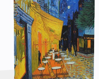 Van Gogh Reproduction Canvas Print Cafe Terrace Ready To Hang Or Poster Print