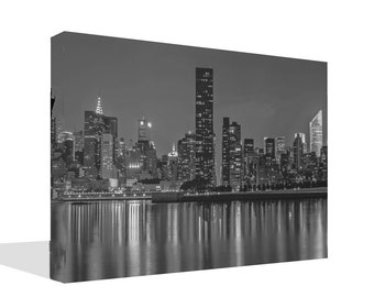Black and White Cityscape Print Canvas or Poster Print