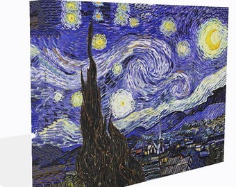 Van Gogh Reproduction Canvas Print Starry Night  Ready To Hang Or Poster Print