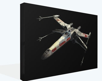 Star Wars X Wing Fighter Ship Canvas Print Wall Art Ready to Hang or Photo Poster Print