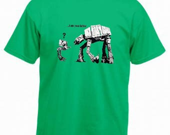 AT-AT Star Wars Banksy I'm Your Father Printed  Graphic  Cotton T Shirt Assorted Colours