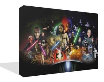 Star Wars Canvas Print Wall Art Premium Han Solo Luke Skywalker Picture Photo Poster Print