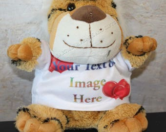 Personalised Cuddly Soft Tiger Comes With Its Own T Shirt