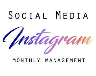 Instagram Management, instagram monthly management, Social Media Help, Etsy Shop Help, Marketing Help, Etsy Help, Social Media,