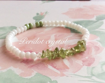 Peridot Crystal Bracelet
