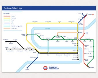 Durham Tube Map