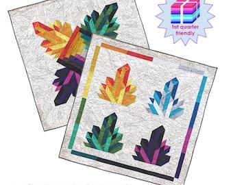 Modern crystal quilt pattern: Crystalize - amethyst quilt - quartz quilt - wallhanging quilt, baby quilt, crib quilt, throw quilt, lap quilt