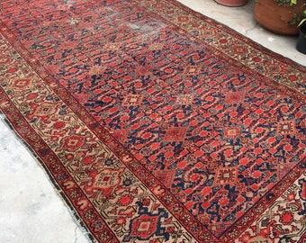 5x10 Antique Hamadan Rug / Vintage Rug