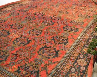 16.5 x 26.5 Oversize Antique Turkish Oushak Rug