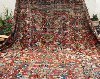On sale! 14' x 17' Oversized 1920's Hand Knotted Rug