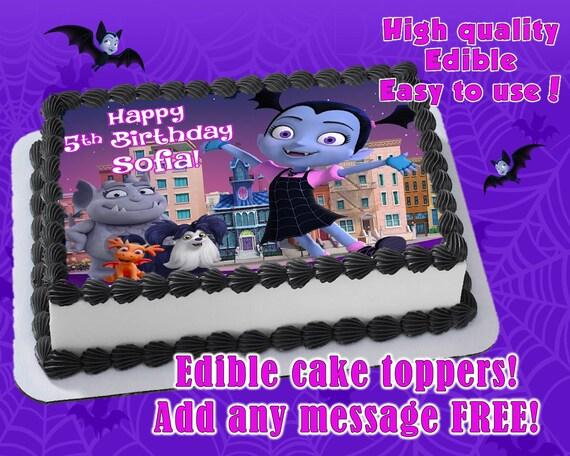 Vampirina Cake Toppers Edible Print Sugar Sheet Decoration