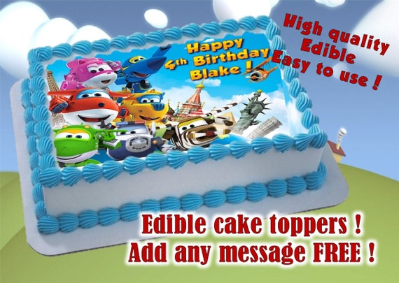 Super Wings Cake Toppersframe Edible Print Sugar Sheet Etsy