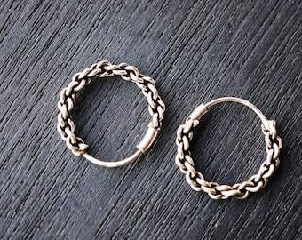 383aa7c28 925 Sterling Silver Rope Hoop Earrings,16 m Small hoop earrings Silver hoop  earrings Tiny silver hoop oxidize Rope L-HSM012