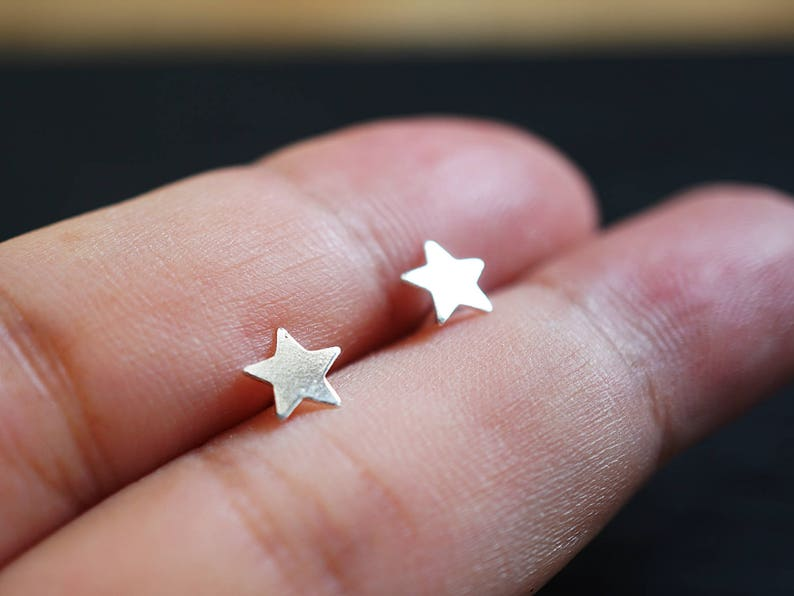 313006fab Tiny Star Studs Star Earrings Sterling Silver Star Little Star | Etsy