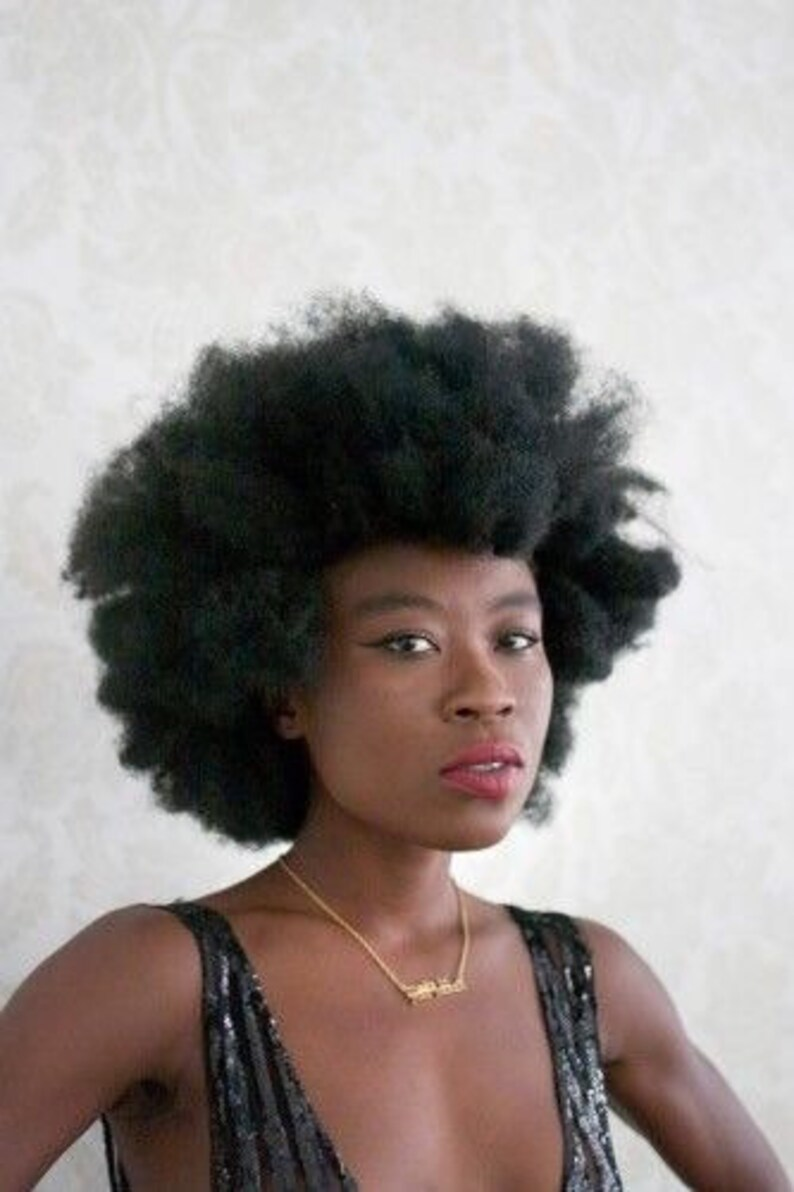 short afro clip in hair extension, coily kinky hair, human hair blend,  coily 4c, hair extension clip
