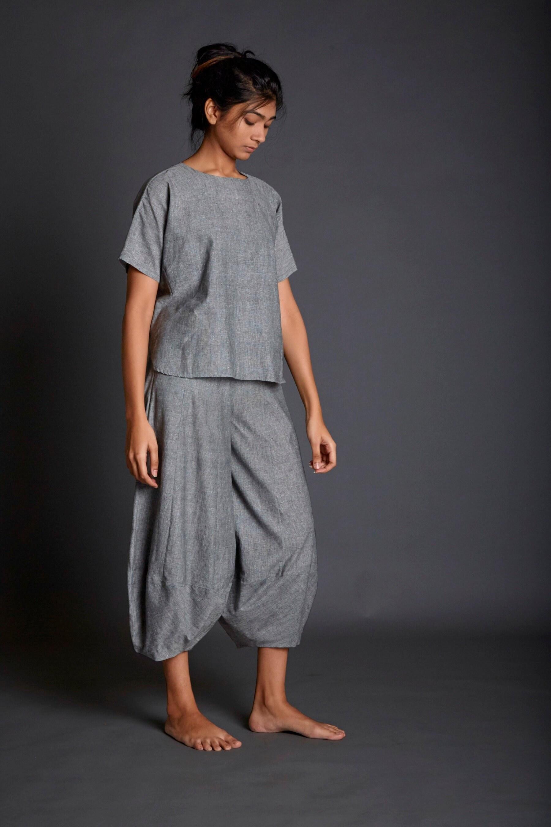 ff03ff7f92 New Light GreyCowl Pants Draped Comfortable Bottoms Khadi