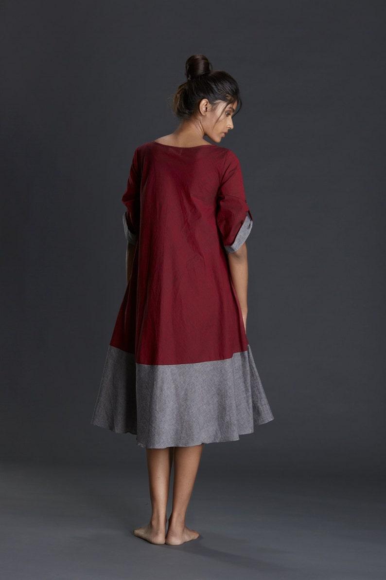2dbe4cc64f Głęboka czerwona sukienka z gorącą i seksowną