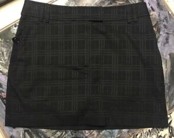 3fb5f9cdd3 Vintage Burberry Signature Novacheck Classic Black Skirt