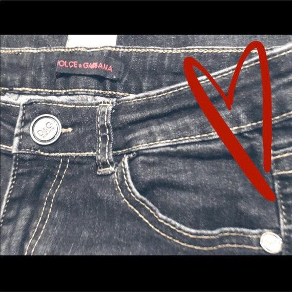 Vintage Dolce & Gabbana Distressed Skinny Jeans