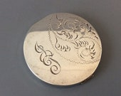 Sterling Silver Compact Vanity Pill Box 95g