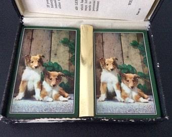 Northbrook Vintage jouer cartes / chien / chiots / rétro cartes /